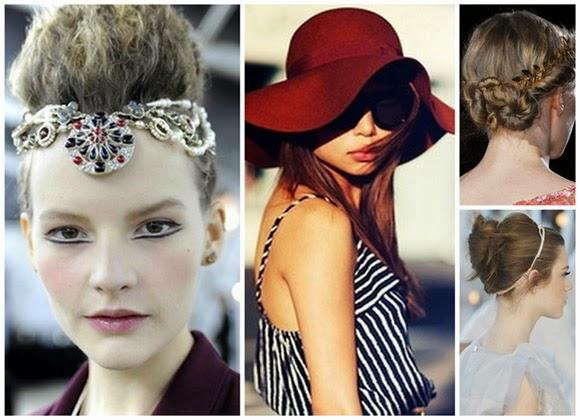 Peinados 2014 con accesorios de moda