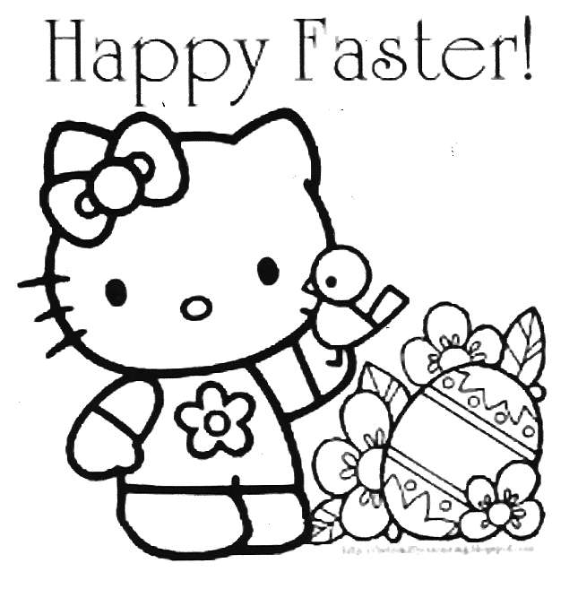 Free Coloring Pages Of Hello Kitty Happy Birthday