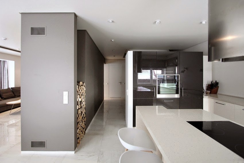 Hogares frescos residencia remodelada con chimenea - Casas americanas interior ...
