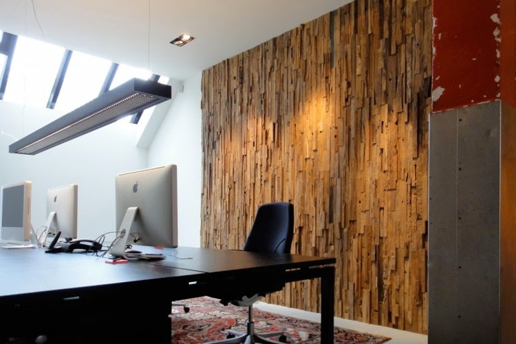 3D wall panels with old wood for office room - 15 Exclusive Wooden Wall Panels And 3D Wall Paneling