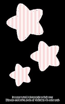 Estrellas para decorar cumpleaños