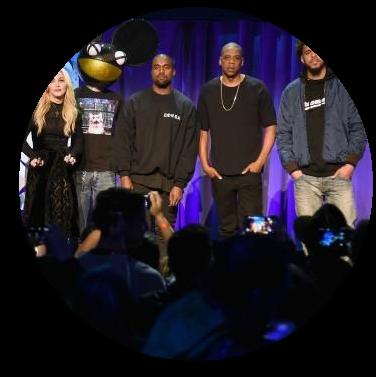 #tidalforall Jay Z Madonna Danger Mouse Kanye West J.Cole