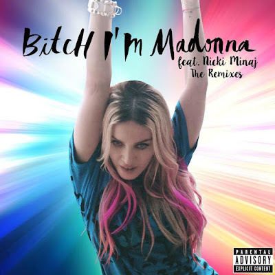 Madonna Bitch Im Madonna single album cover.