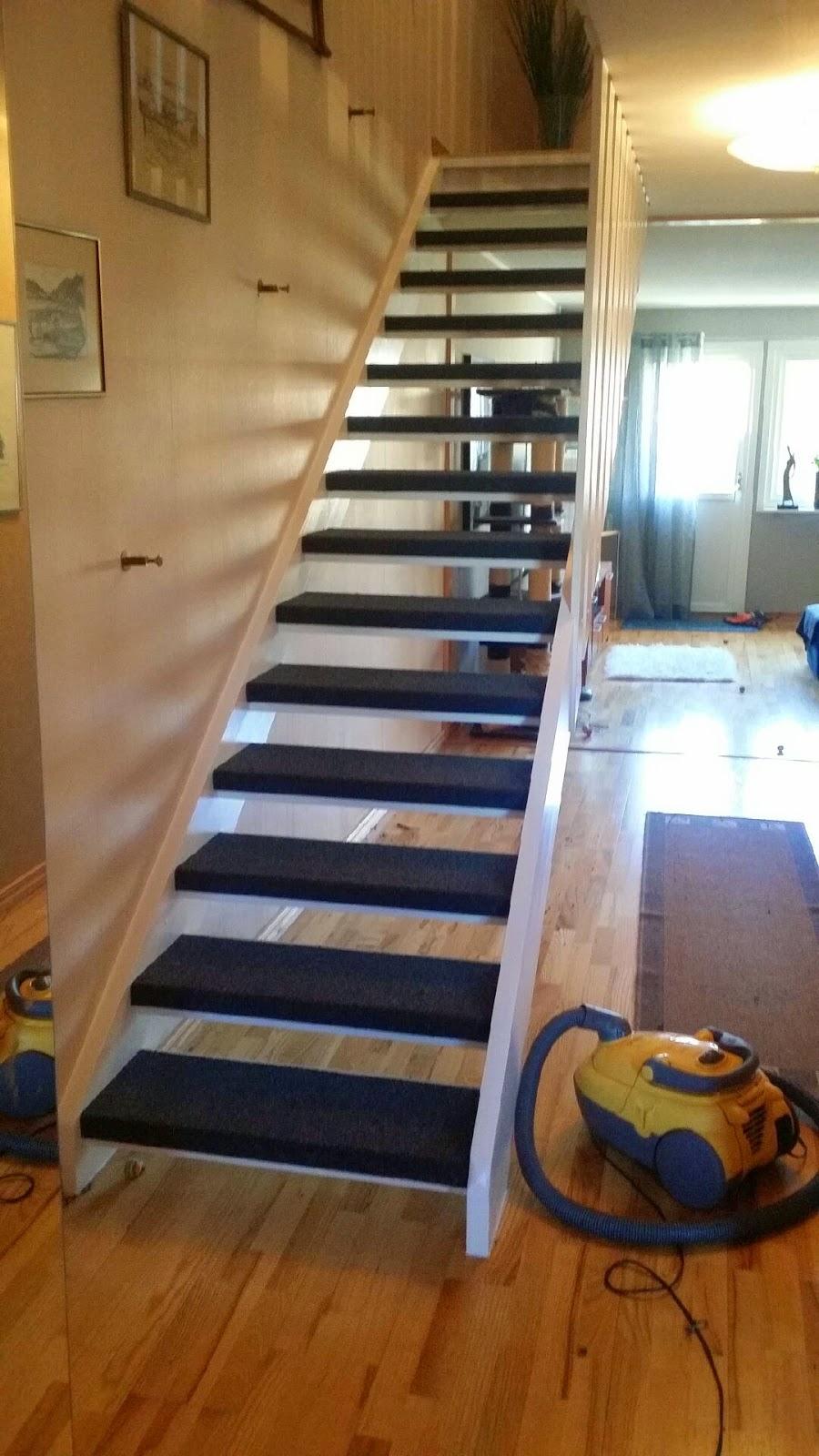 Uffes Bygg: Textilmatta i trappa! : trapp matta : Inredning