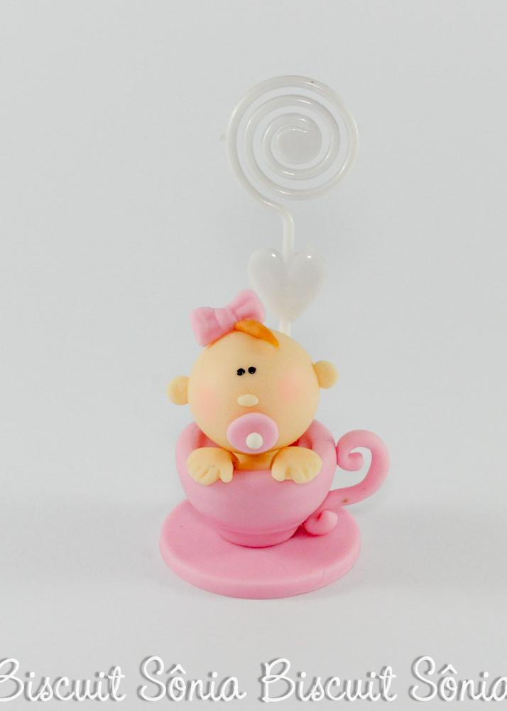 lembrancinha de chá de bebê biscuit menina na xícara