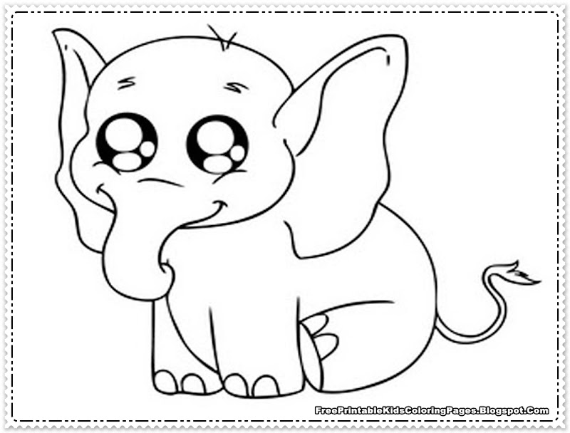 Elephant Coloring Pages Printable title=