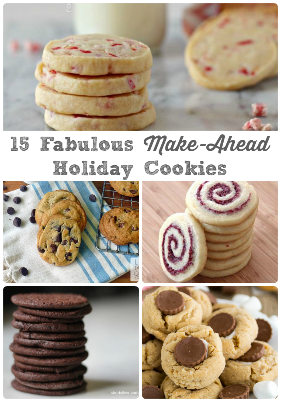 15 Fabulous Make-Ahead Holiday Cookies via thefrugalfoodiemama.com - the cookie dough and/or finished cookies for these recipes freeze beautifully for the holidays