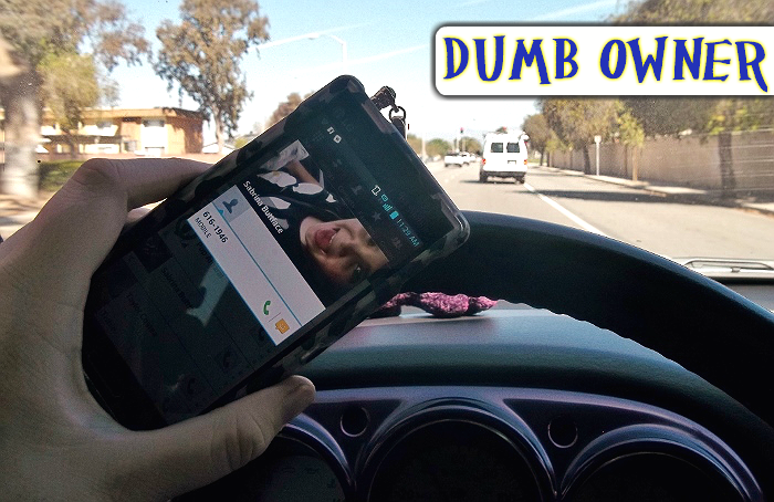 Dumb Driver Smartphone Handling #FamilyMobile #Shop