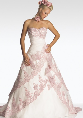 Pink Wedding Dresses In Mosaic View | Wedding Dresses In Mosaic View