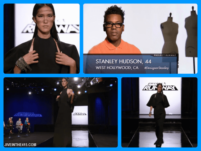 Project Runway Team's Edition Season Eleven contestant Stanley Hudson and his episode 12 runway look.