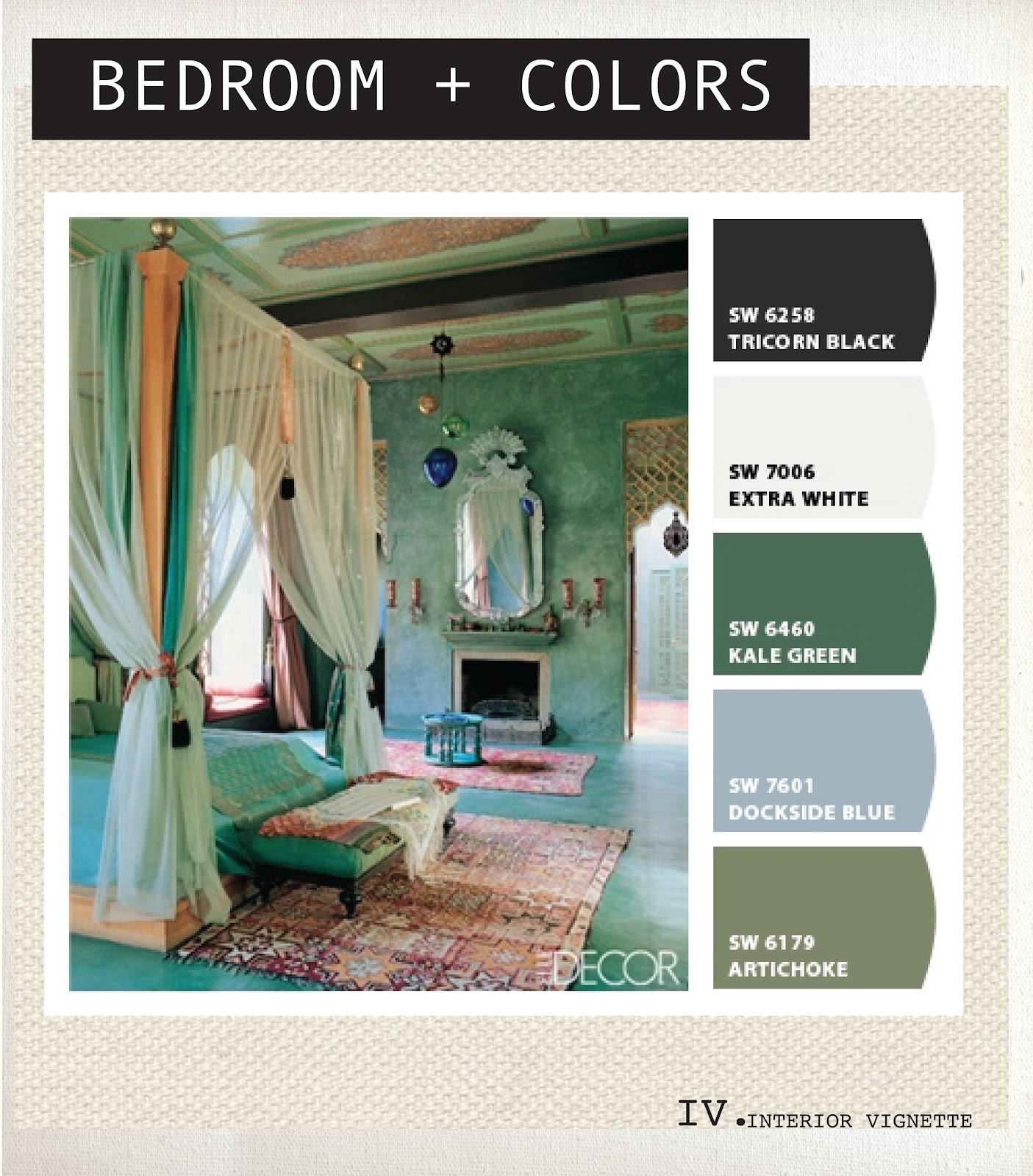 Image Via Elle Decor Colors Via Sherwin Williams Chip It