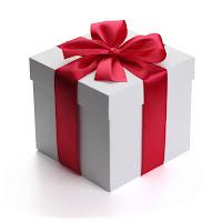 Cadeau wit-rood lint