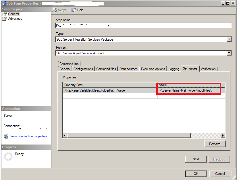 ssis assign variable value