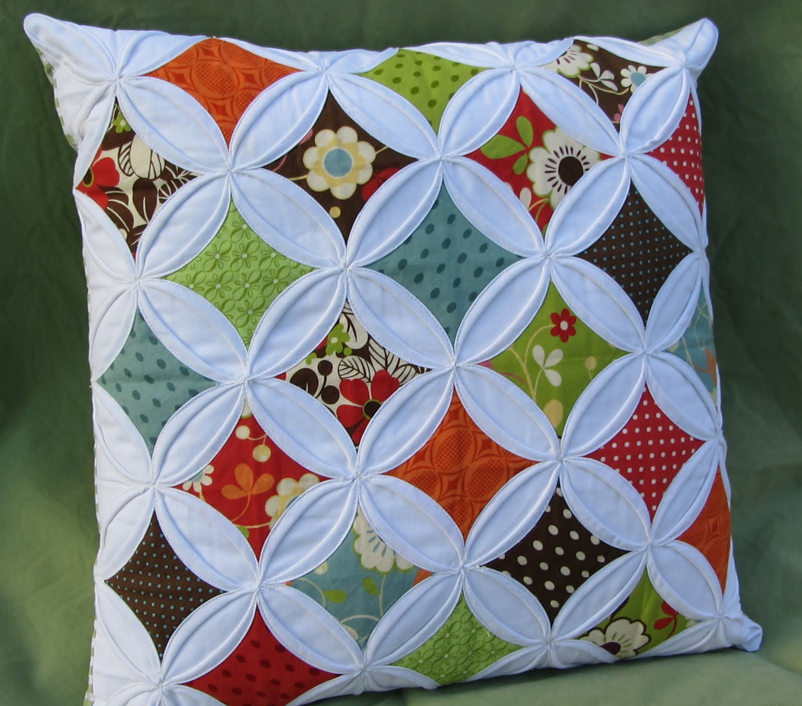 Making more with less cathedral windows pillow made for me for Window quilt