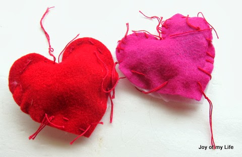 sewing kids felt heart pillows fine motor skills valentines