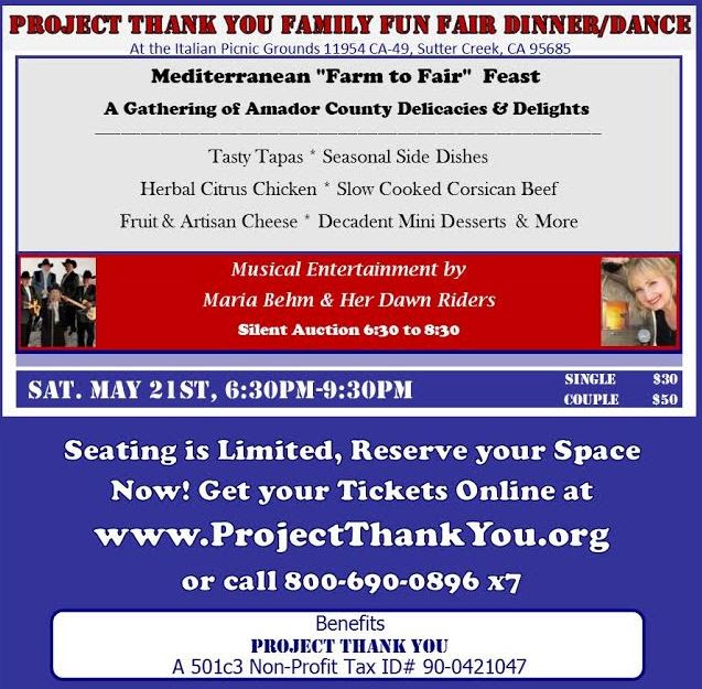 Project Thanks Dinner-Dance - Sat May 21