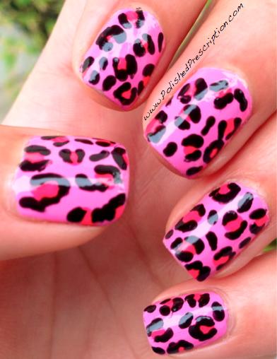 polished prescription pink leopard