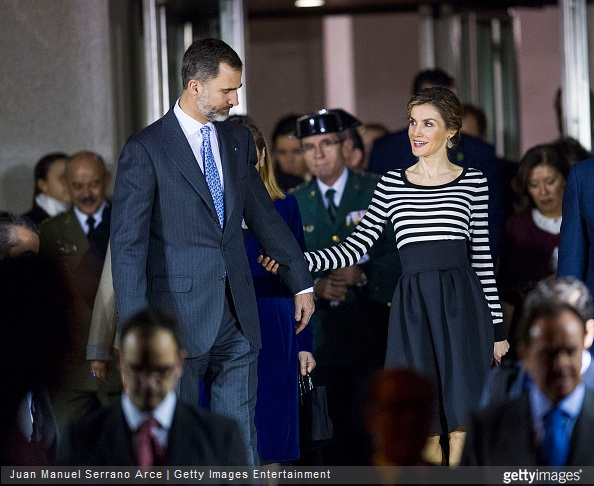 Queen Letizia of Spain attended the inauguration of the 'The First Picasso' exhibition at the 'Museo de Belas Artes A Coruna