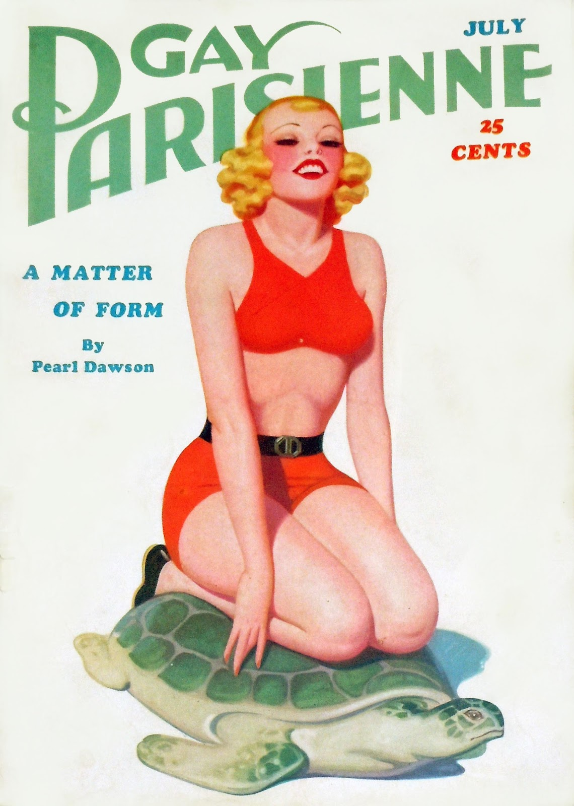 ... for this cover to Harry Donenfeld, the publisher of Gay Parisienne.