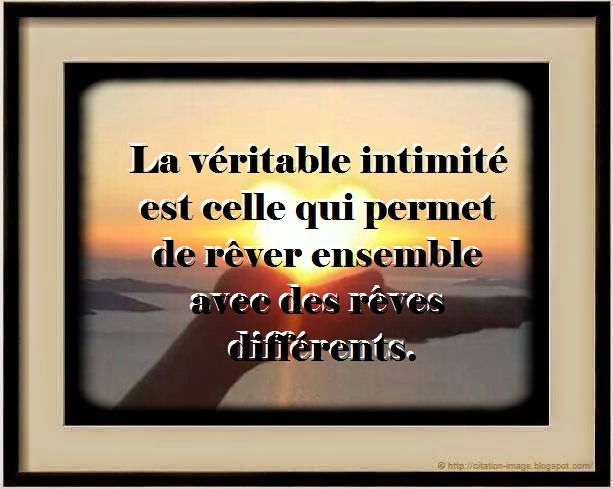 Une Citation en image Intime