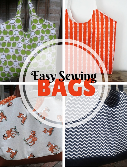Easy gift sewing project: a market bag | Happy in Red