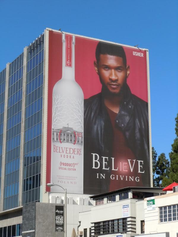 Usher Belvedere Vodka billboard