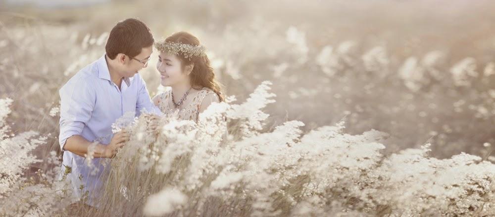 Chụp Ảnh cưới ở bãi cỏ lau Sông Hồng