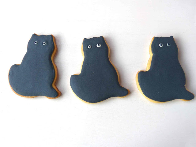 Galletas decoradas Halloween - gato negro
