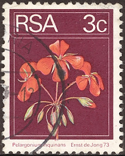 1974 Pelargonium Inquinans, Republique of South Africa