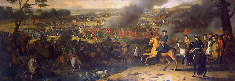 A battle scene during the Great Northern War 1700 - 1721