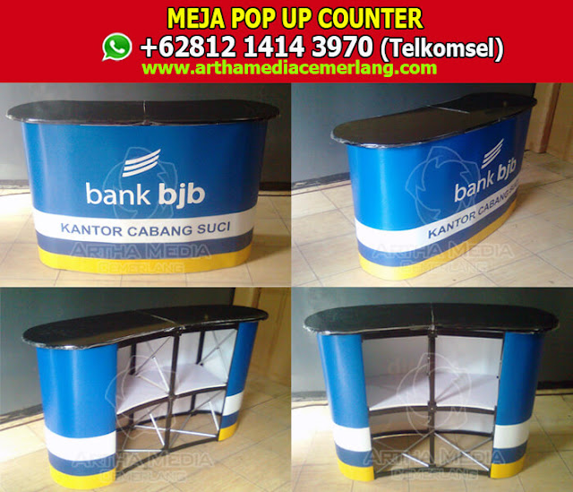 Meja Pop Up Counter,  Fungsi Meja Display, Meja Promosi Bongkar Pasang