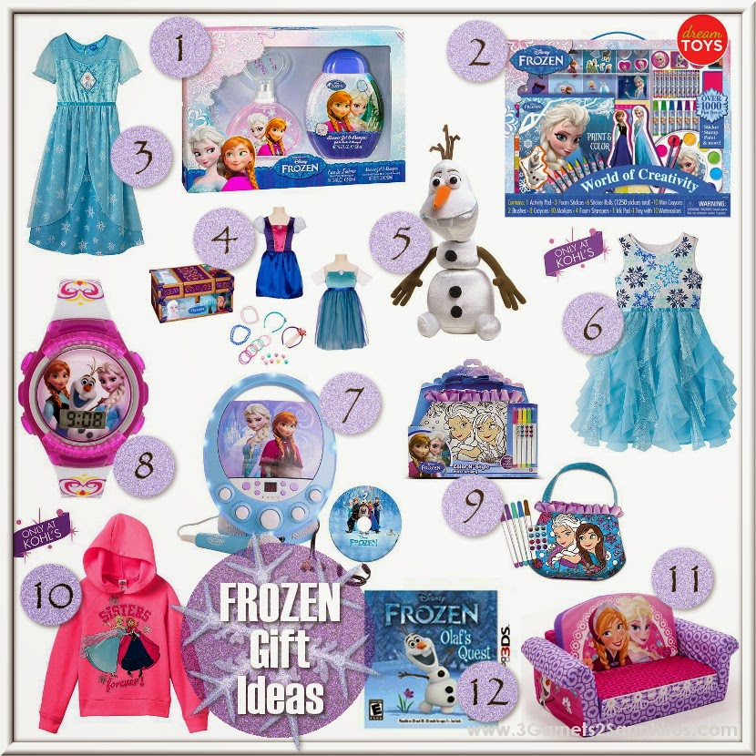 12 FROZEN gift ideas for girls  |  www.3Garnets2Sapphires.com