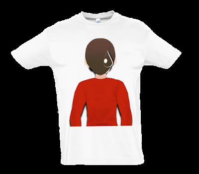 """Camiseta manga corta para hombre """"Gota"""" color blanco"""