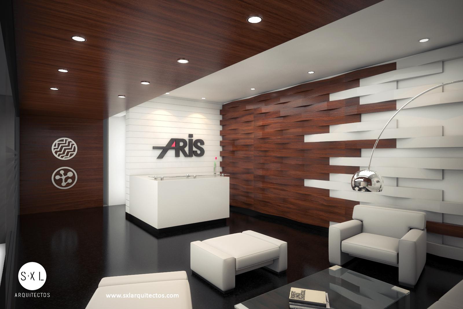 Oficinas aris recepci n s xl arquitectos for Imagenes de oficinas de diseno