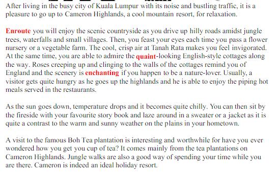 Contoh Karangan UPSR Bahasa Inggeris Mudah