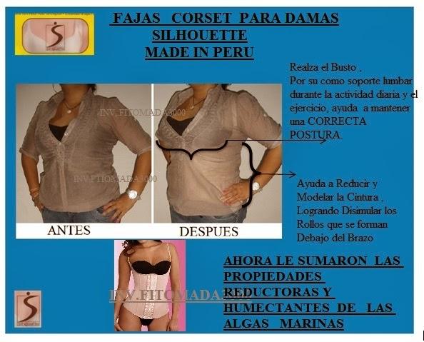 FAJAS TIPO COSET PARA DAMAS CALIDAD PERUANA