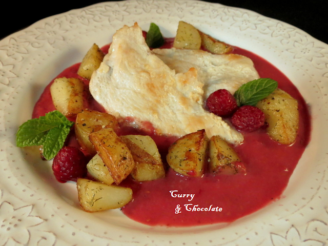 Chicken breast with raspberry sauce