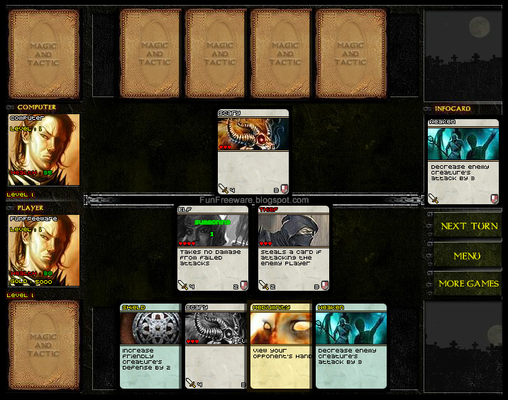 Free Card Game Magic And Tactic Screenshot Image