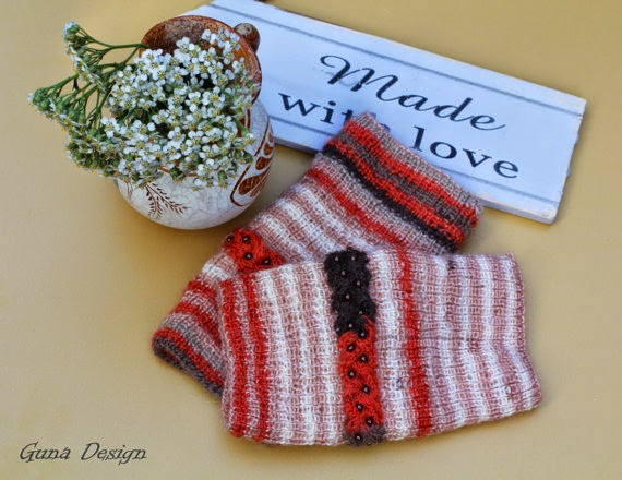 gunadesign guna nadersone finger less gloves in colors of autumn