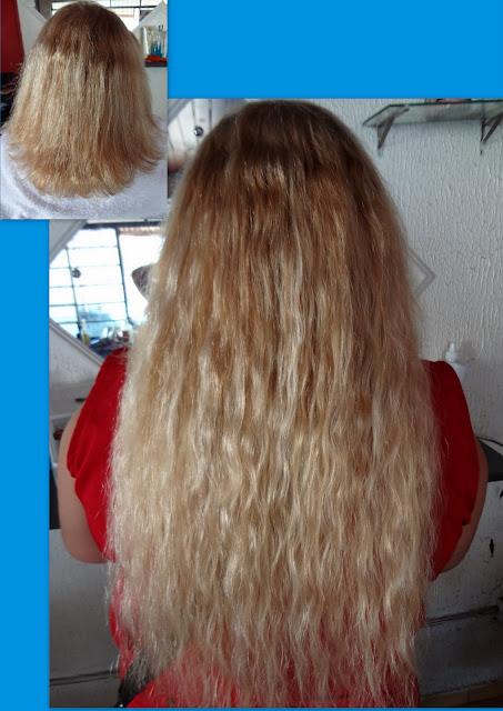 mega hair loiro longo