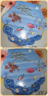 deniz temalı ahşap  kutu