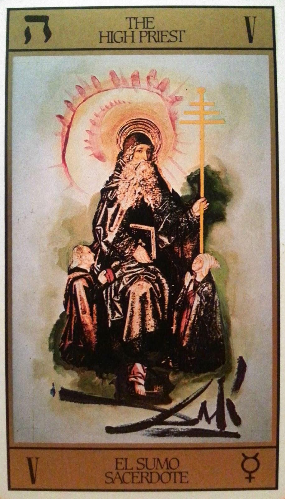 El Sumo Sacerdote- Tarot Dali