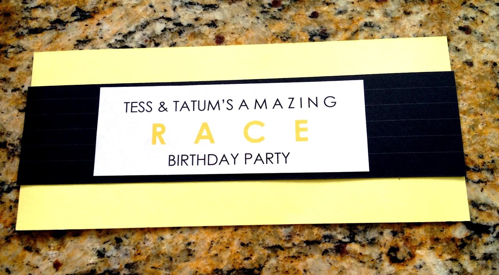 Amazing race ideas - Amazing Race Birthday Party Brookes Version