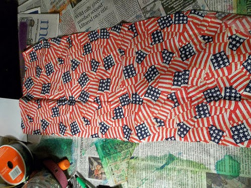 Patriotic Scarf-lace by Tanya Ruffin for Amazing Mold Putty