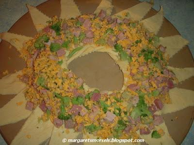Margaret's Morsels   Broccoli Ham Ring