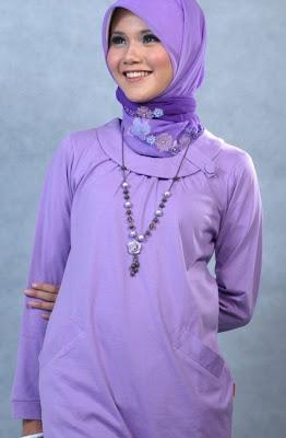 Actual Basic Busana Muslim Ungu muda