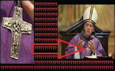 Ο μυστηριώδης σταυρός τού Πάπα, αντιπροσωπεύει μία αλλόκοτη μορφή!!!