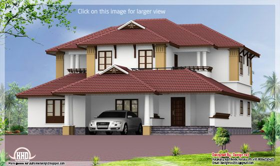 March 2013 kerala home design architecture house plans for Sloped roof house plans in india