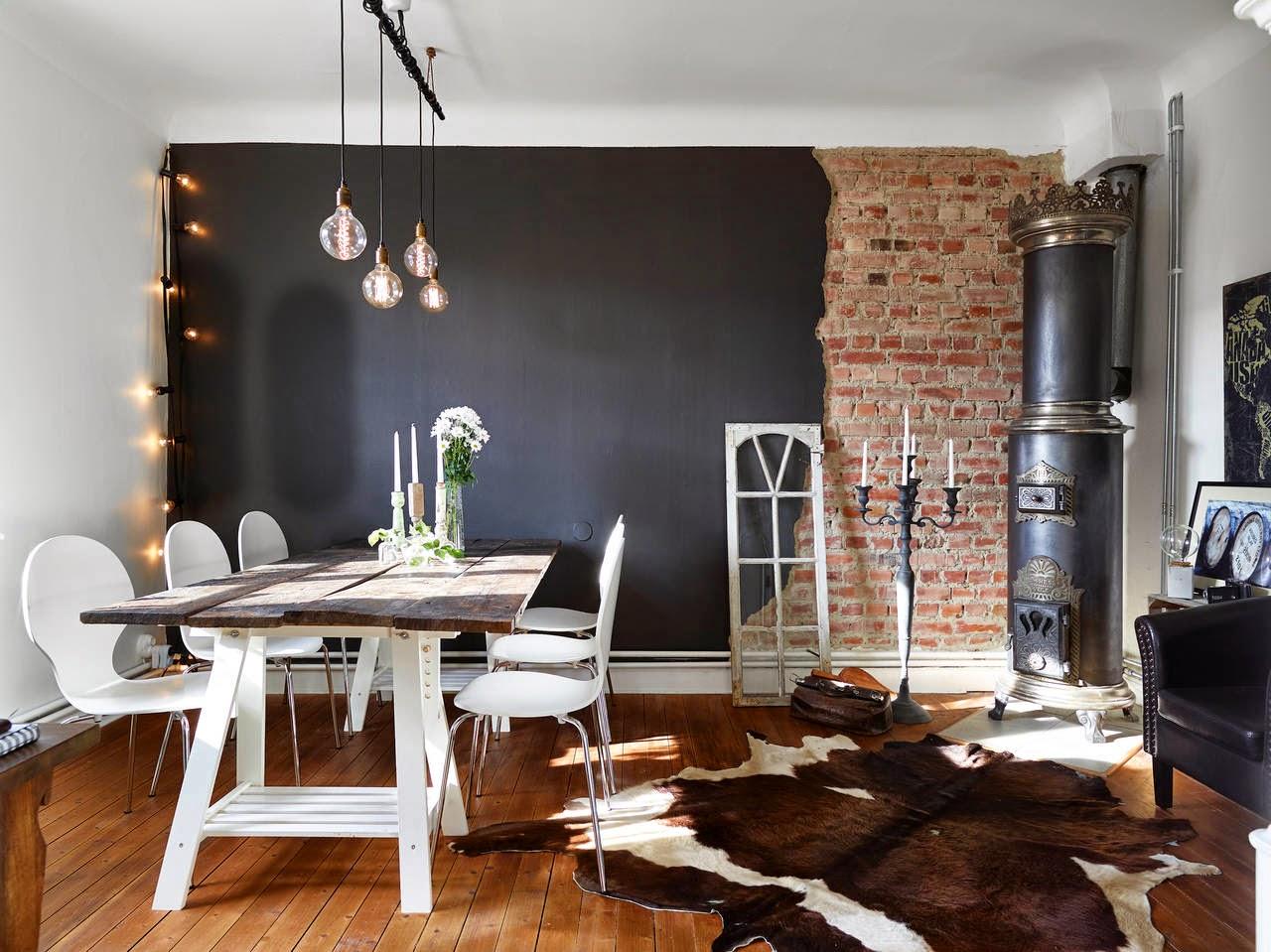 Inspiraci n deco estilo n rdico en madera y negro tr s - Deco estilo nordico ...