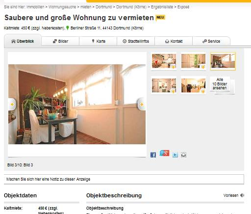 Wohnungsbetrug.blogspot.com: Saubere Und Große Wohnung Zu